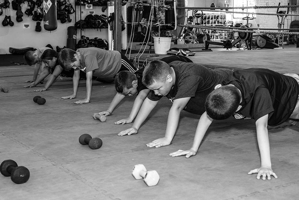 Youth Boxing Class, Plank, at Grealish Boxing Club.jpg