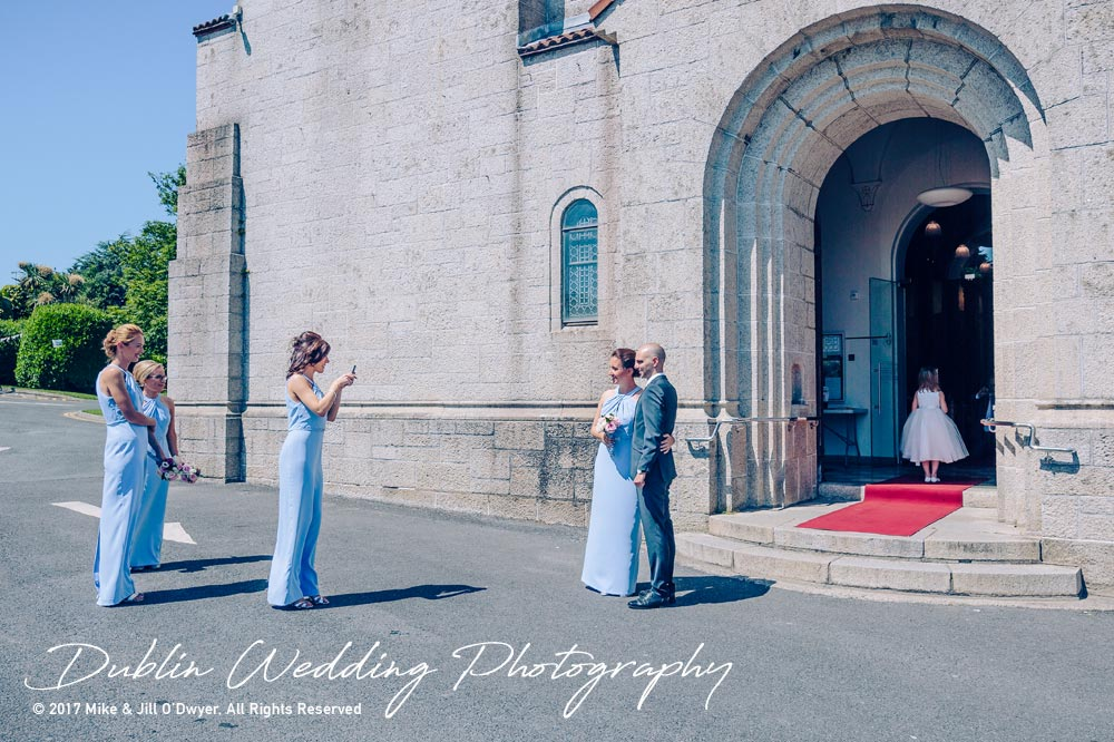 Marlfield House Wedding  Bridesmaids at the Church