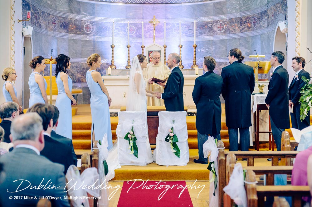 Marlfield House Wedding  Bride & Groom Getting Married In The Church