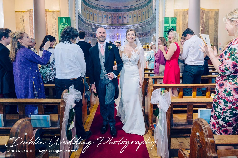 Marlfield House Wedding  Bride & Groom Leaving The Church