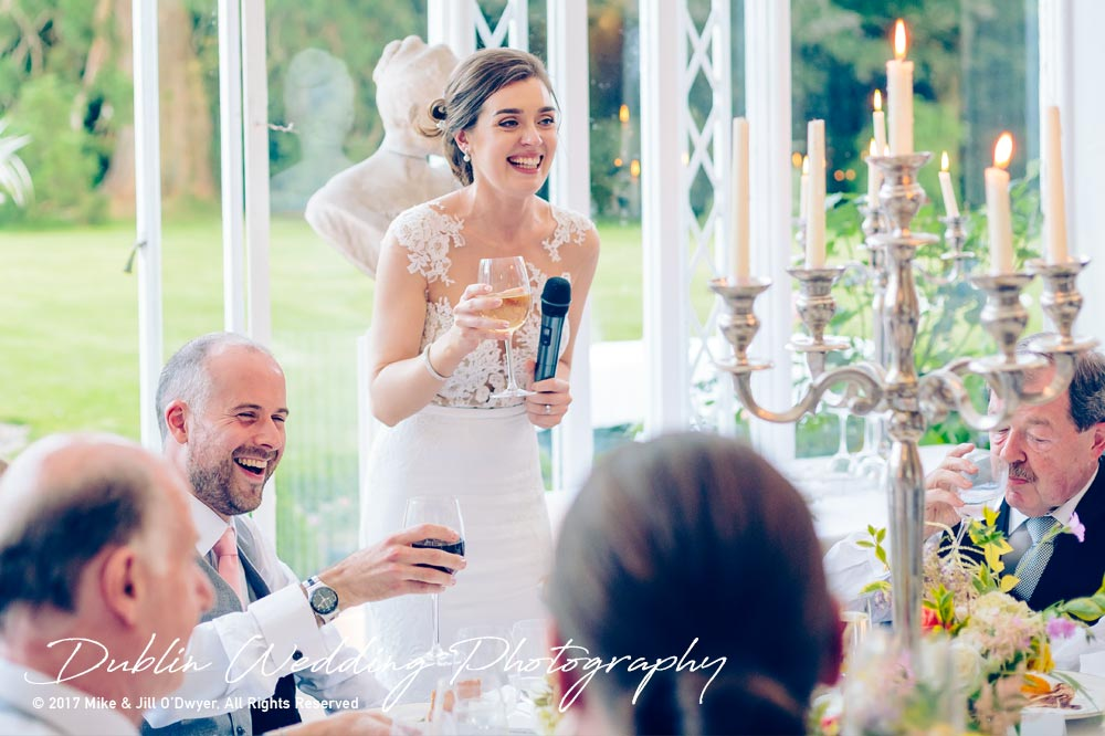 Marlfield House Wedding Brides Speeh at marfield house