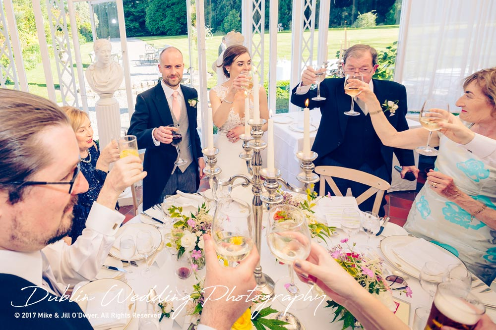 Marlfield House Wedding Cheers Speeches at marfield House