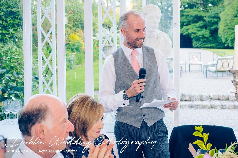 Marlfield House Wedding Groom's Speech at marfield House