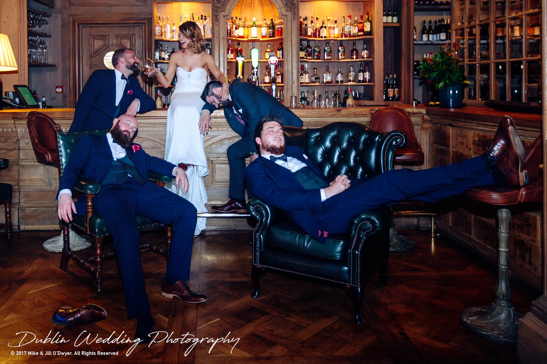 Cliff at Lyons Wedding Bride & Groom and Groomsmen