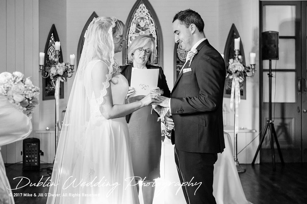 Clonabreany House Bride and Groom getting married