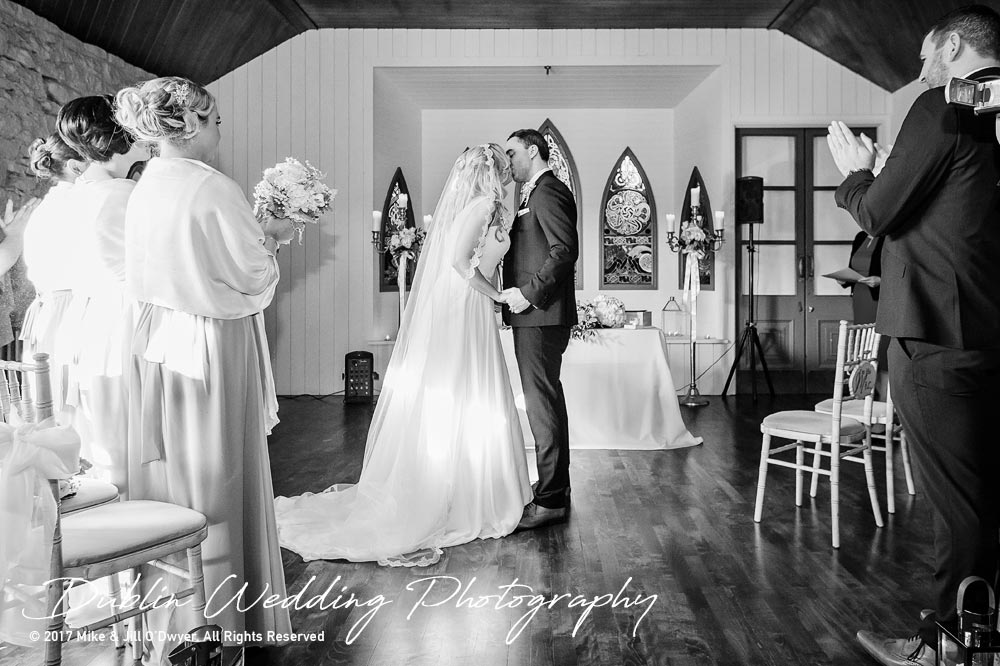 Clonabreany Bride and Groom Kiss
