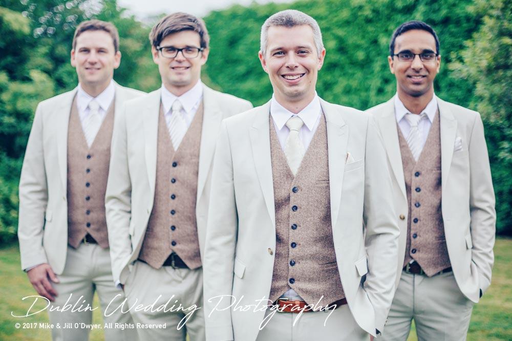Wedding Photographer Carlow Groom & Groomsmen
