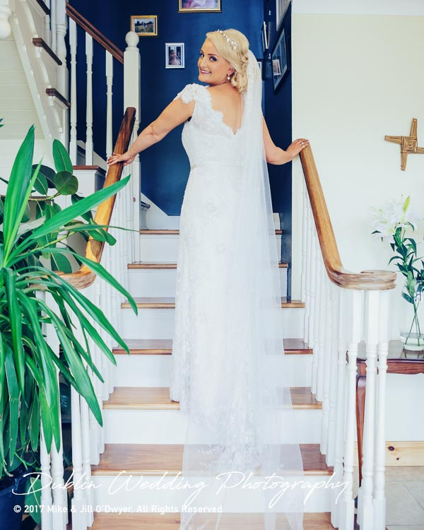 Wedding Photographer Carlow Bride's Dress Back