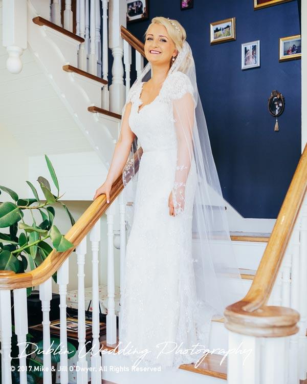 Wedding Photographers Carlow Bride's Dress Front