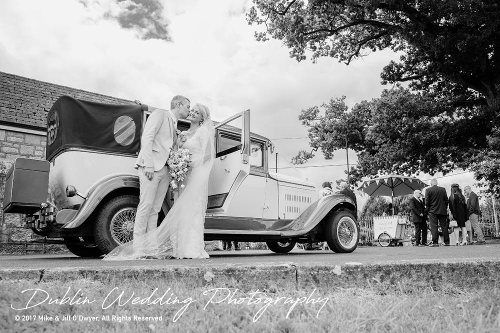 Wedding Photographer Carlow Bride & Groom car