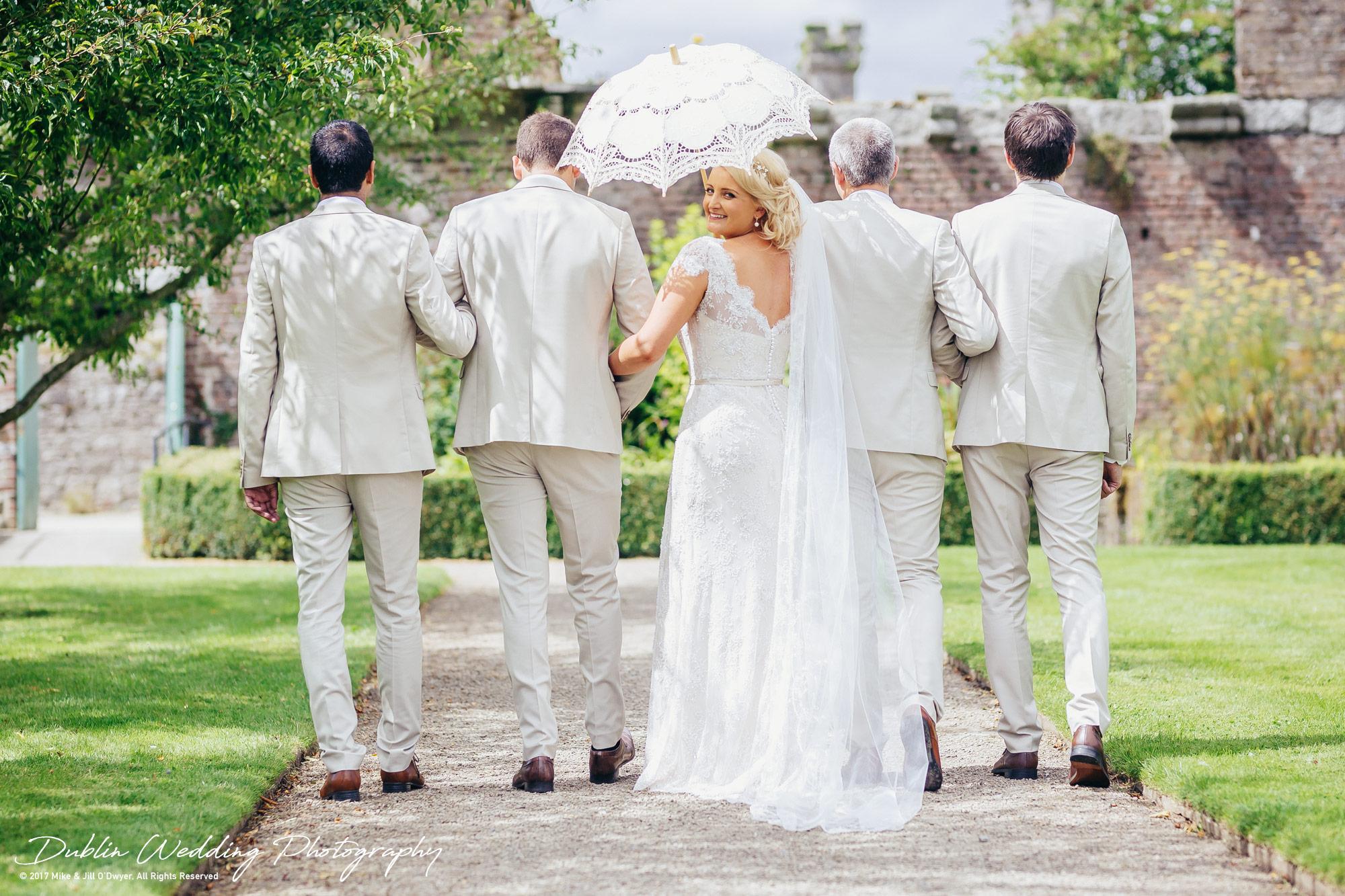Wedding Photographer Ducketts Grove Bride & Groom and Groomsmen