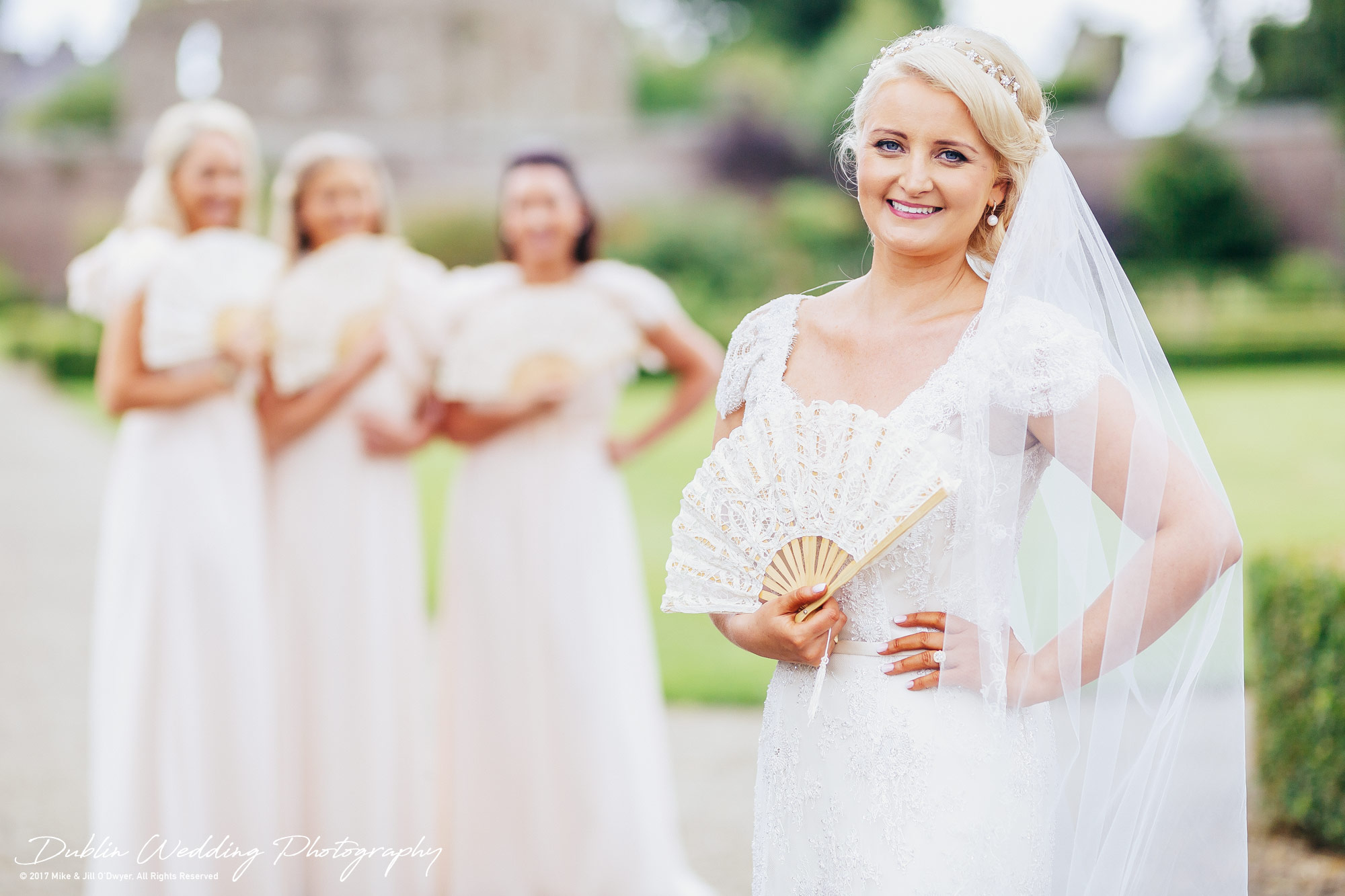 Wedding Photographer Ducketts Grove Bride & Bridesmaids