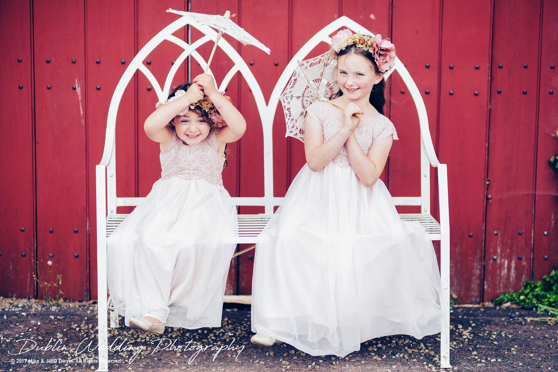 Wedding Photographers Ducketts Grove the Flowergirls
