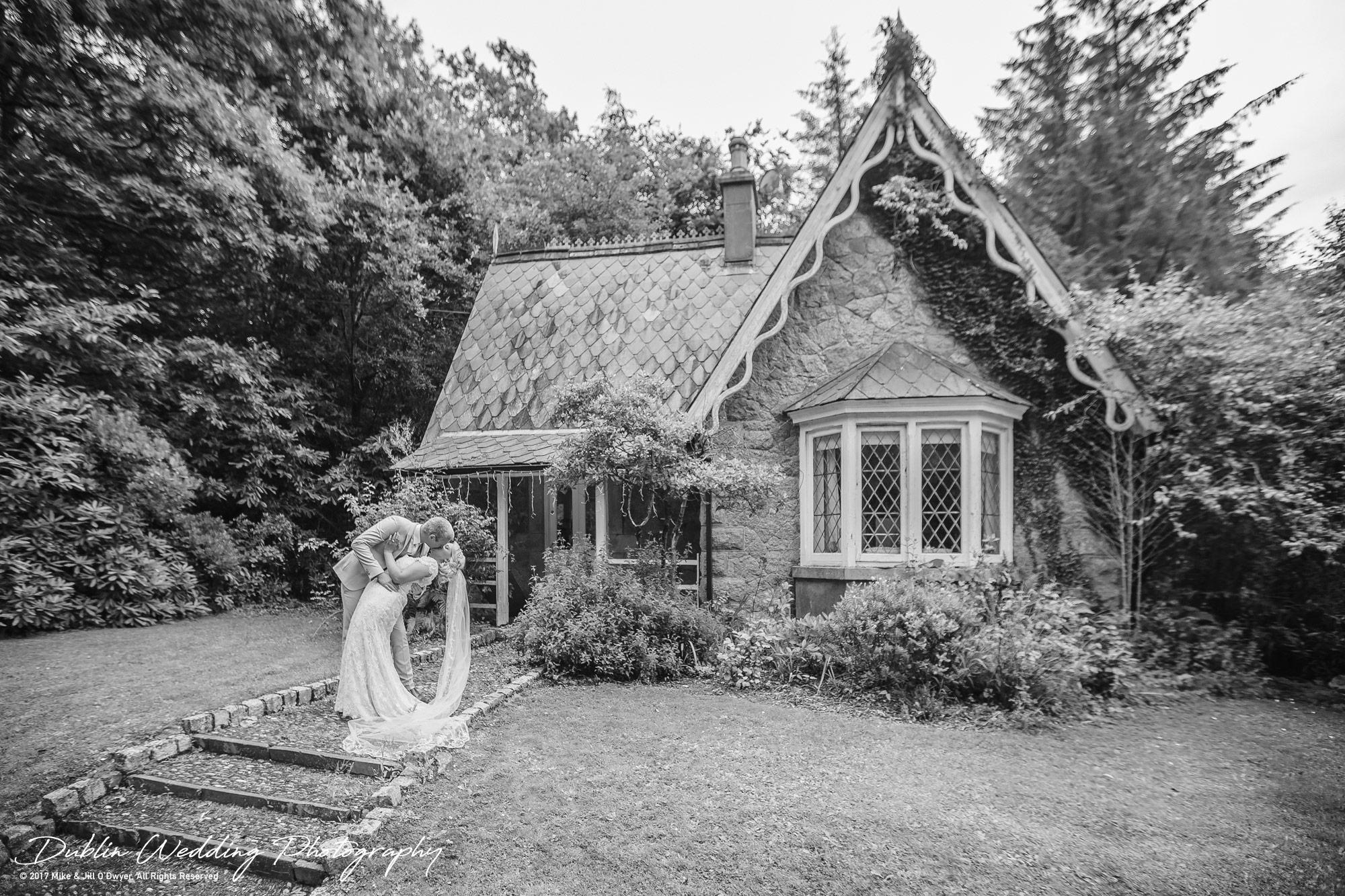 Wedding Photographers Trudder Lodge Gatehouse Bride and Groom