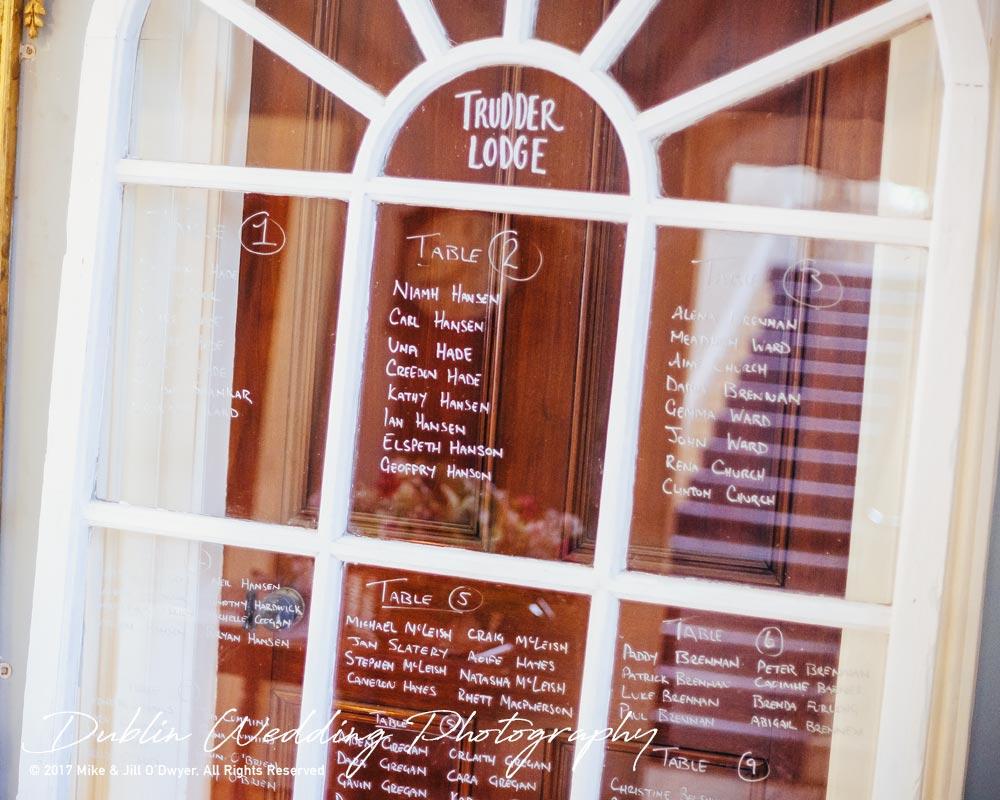 Wedding Photographer trudder Lodge Seating Plan