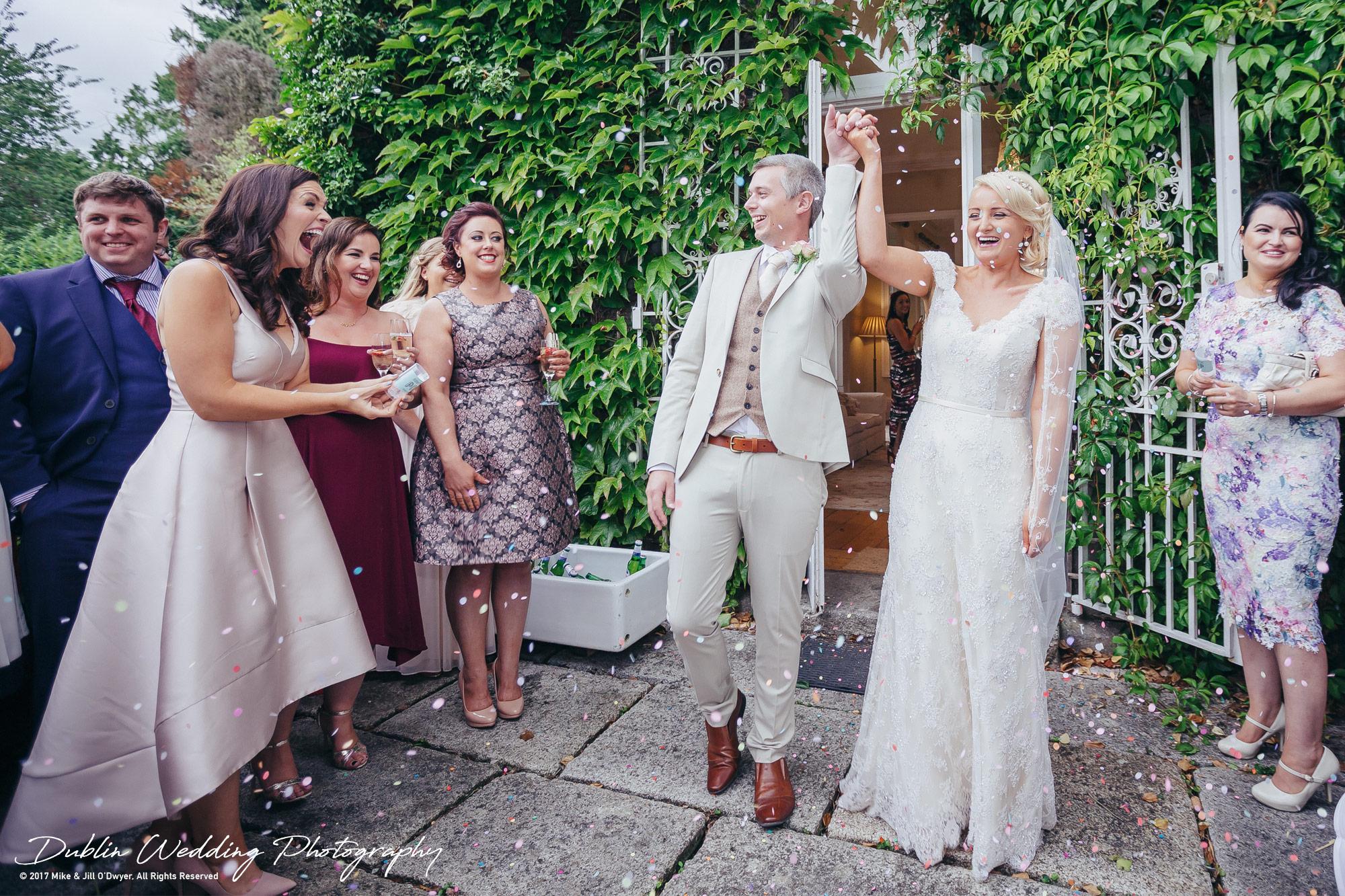 Wedding Photographer Trudder Lodge Confetti
