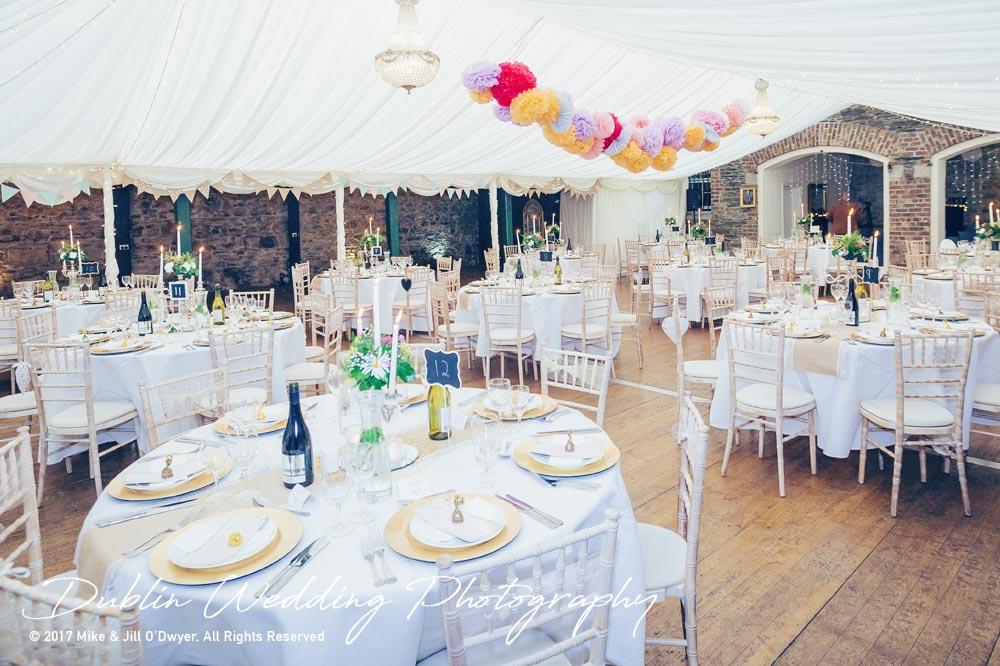 Wedding Photographer Trudder Lodge Dining Room Set Up