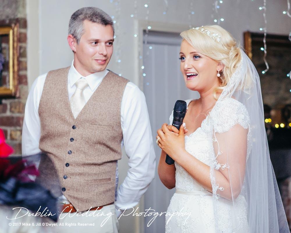Wedding Photographer Trudder Lodge Bride Speech