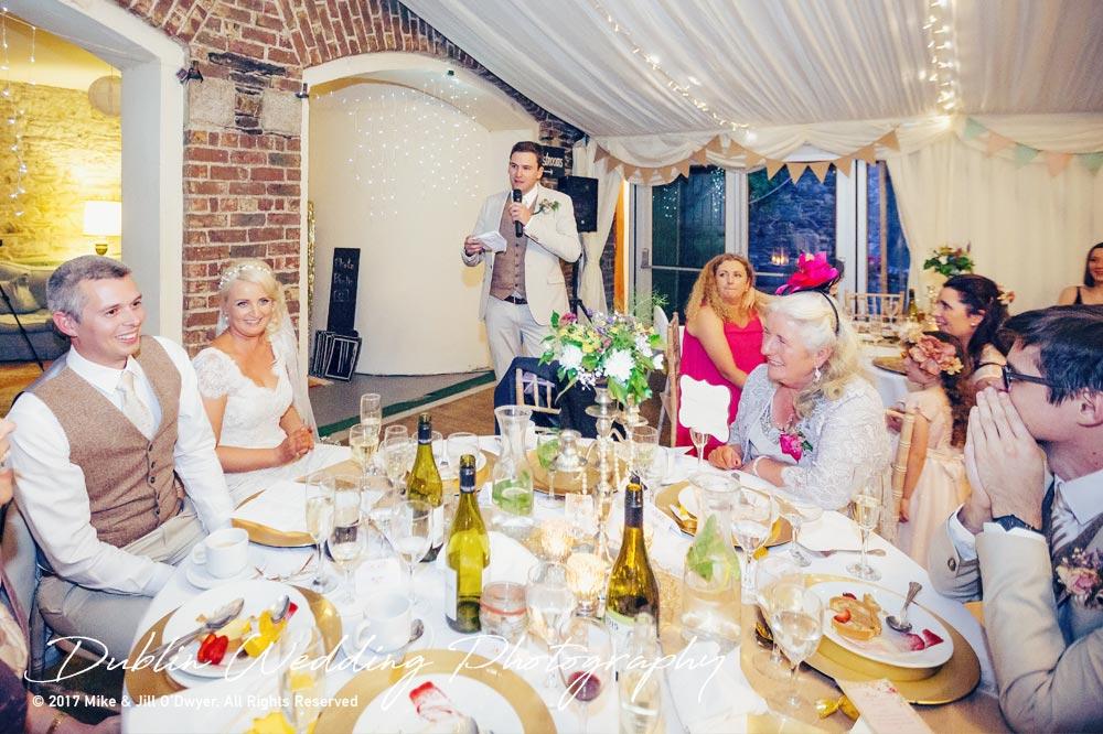 Trudder Lodge Wedding Photographer Speeches
