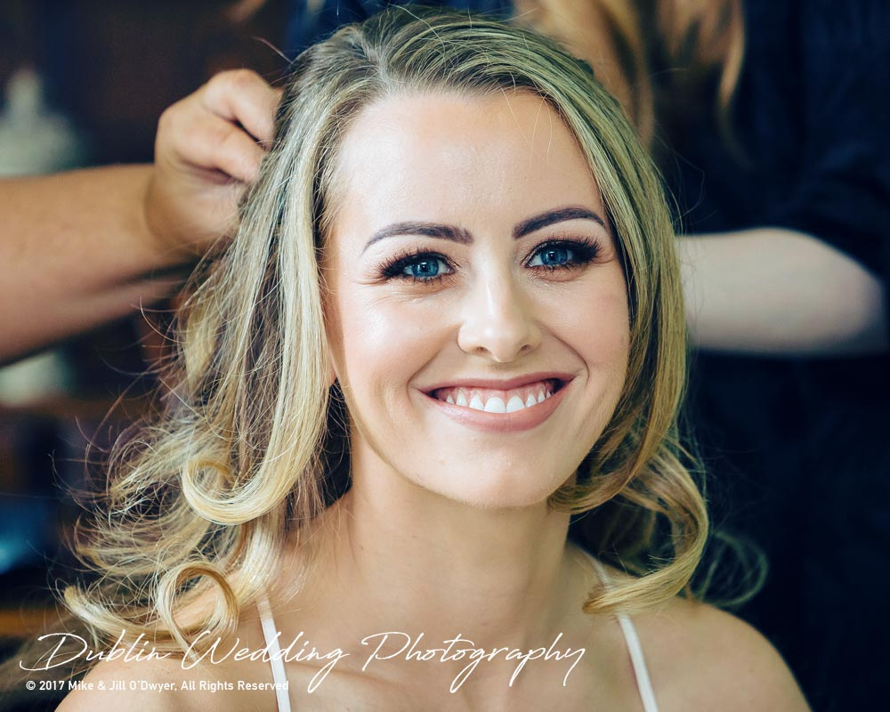 Wedding Photographers Dublin Castle Leslie Monaghan Bride make Up