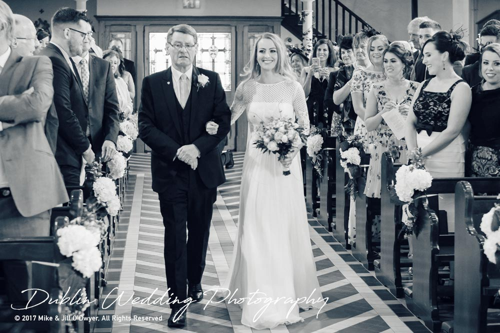 Wedding Photographer Dublin castle Leslie father & Bride