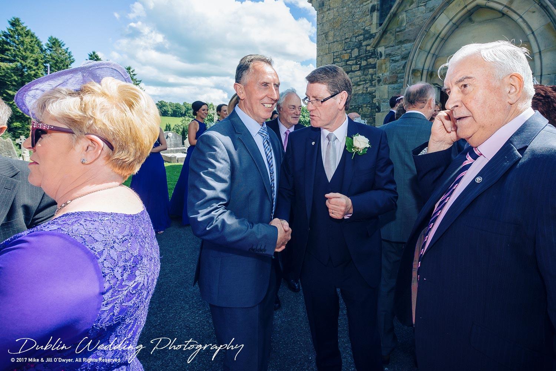 Wedding Photographer Dublin Castle Leslie Guest outside church