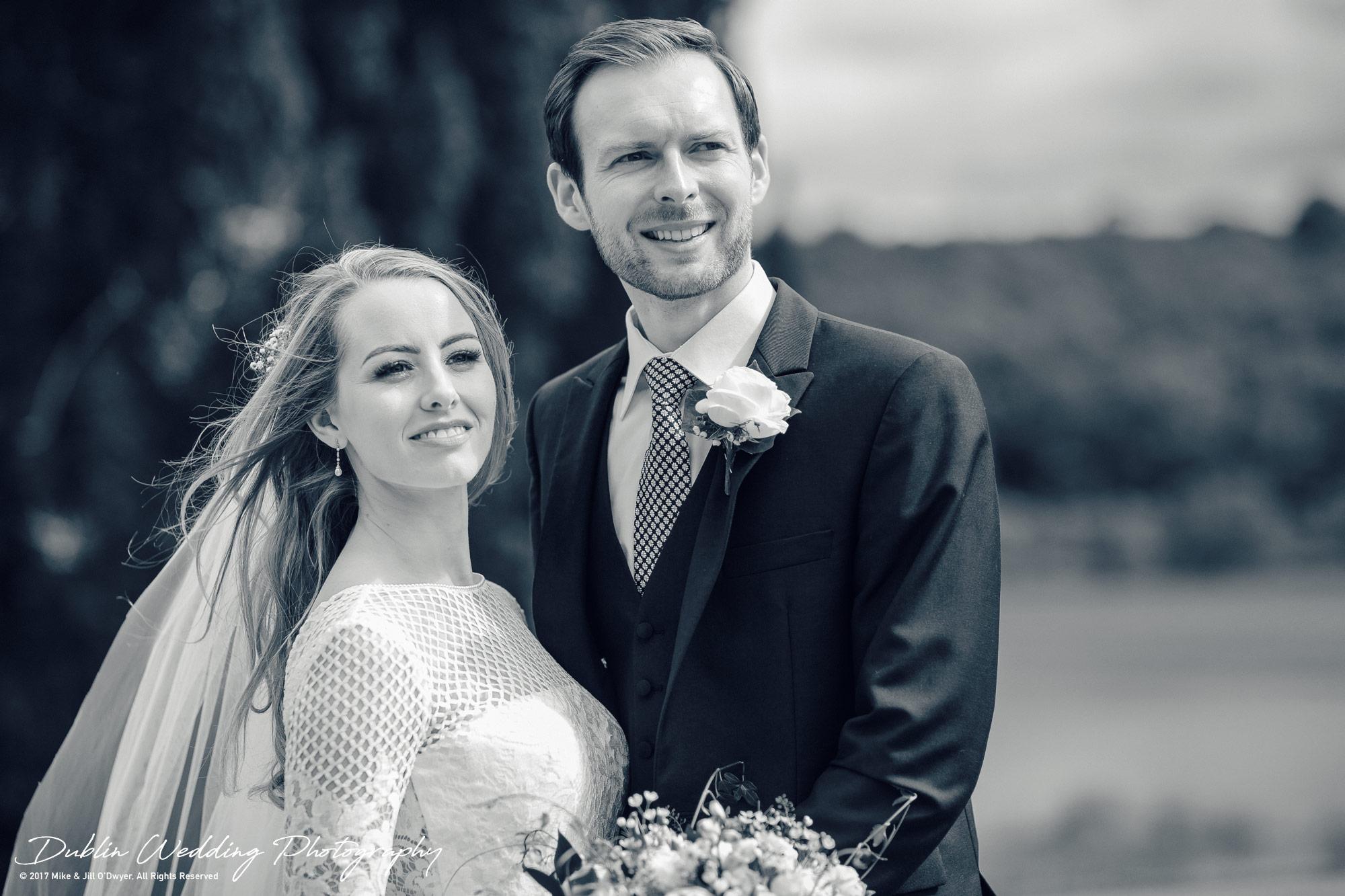 Wedding Photographers Dublin Bride & Groom Looking into the distance
