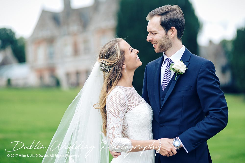 Wedding Photographer Dublin Castle Leslie Bride and Groom The Look they give each other