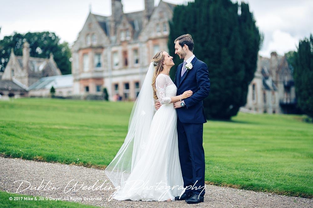 Wedding Photography Dublin Monaghan Bride and Groom at Castle leslie