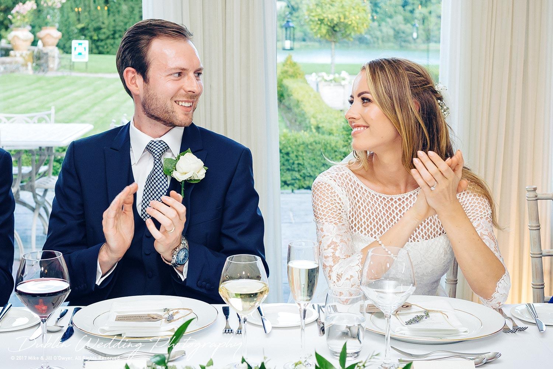 Dublin Wedding Photography Castle Leslie Fathers Speech Reaction