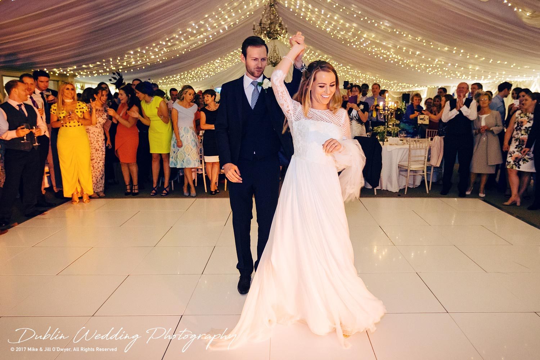Dublin Wedding Photography Castle Leslie First dance Begins