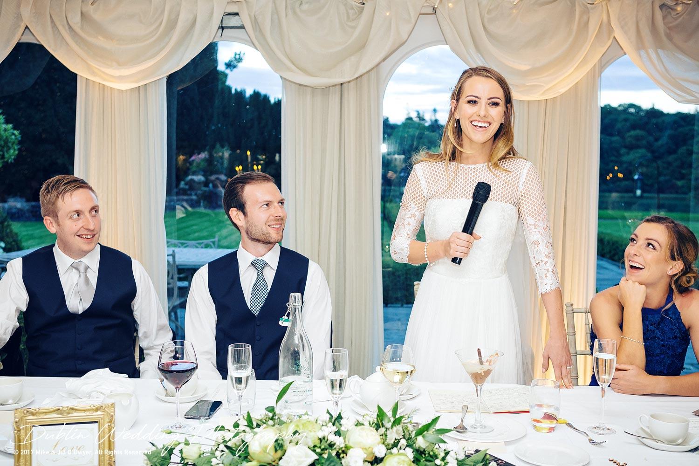 Dublin Wedding Photography Castle Leslie Bride's Speech