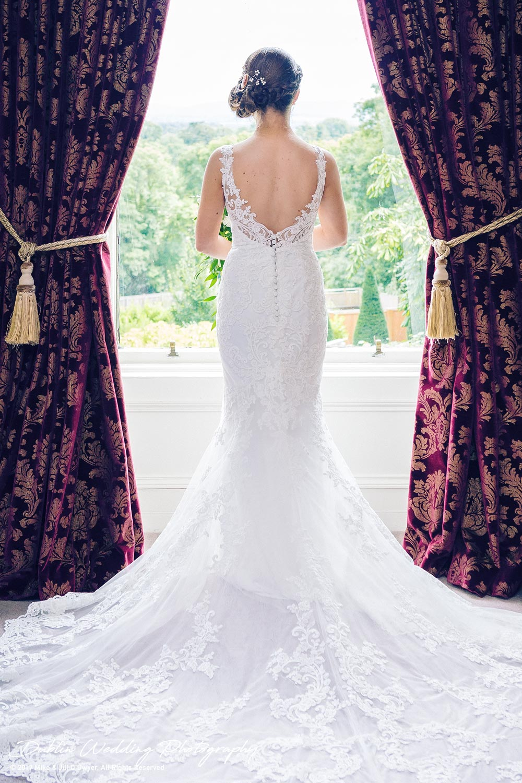 Ariel in Her Wedding Dress by the Window at Killashee Hotel