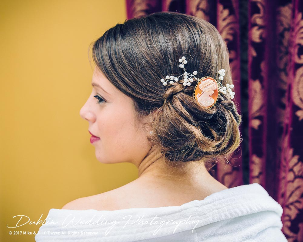 Ariel's Wedding Hair Piece at Killashee Hotel