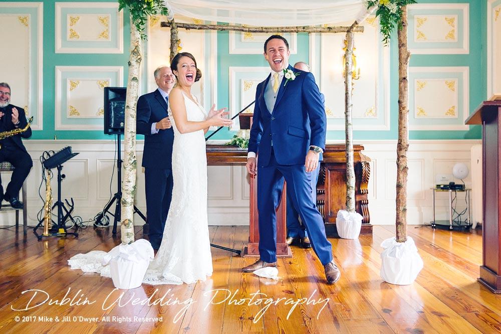 Wedding Photographer Killashee Hotel Bride & Groom Laughing