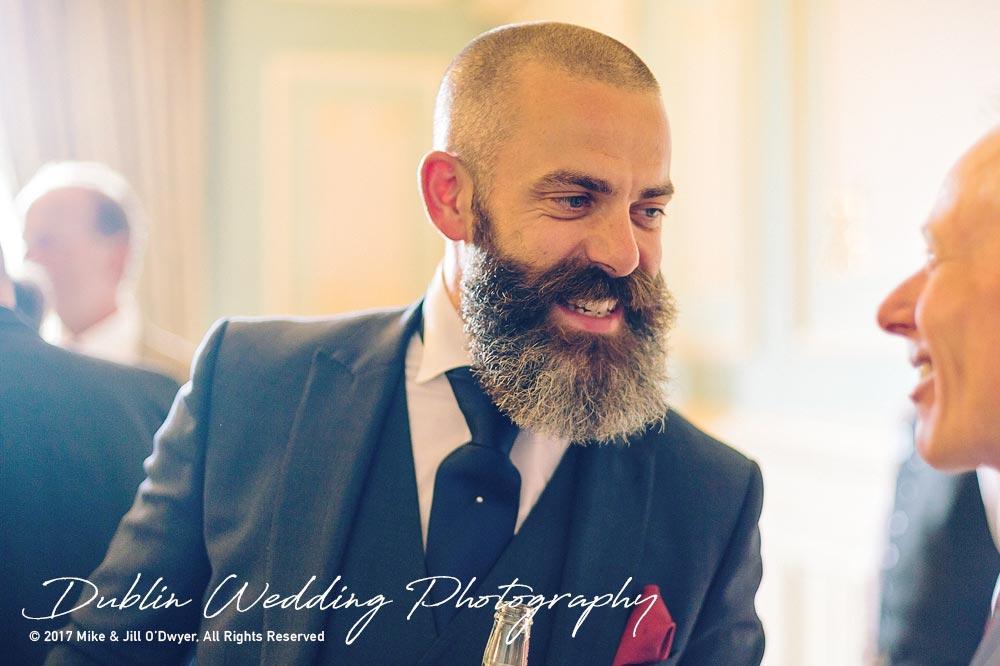 Wedding Photographer Killashee Hotel Guest Beard Reception
