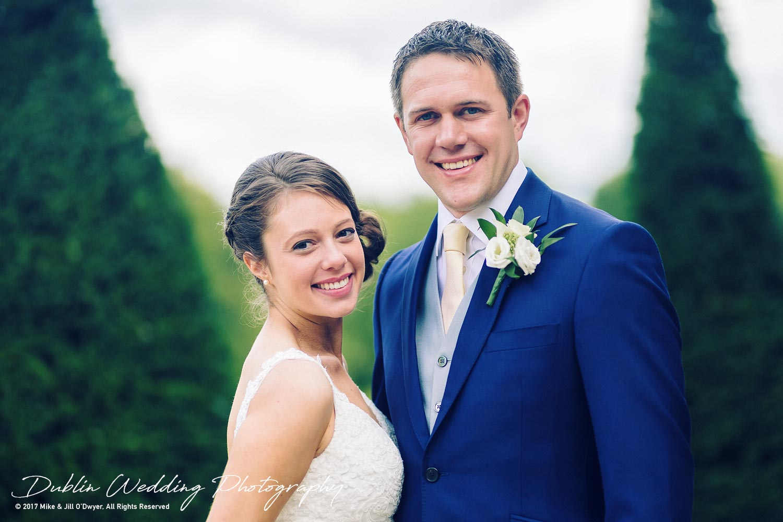 Wedding Photographers Killashee Hotel Kildare Bride & Groom Posing Happily
