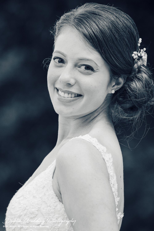 Wedding Photographer Killashee Hotel Kildare Bride Portrait Side