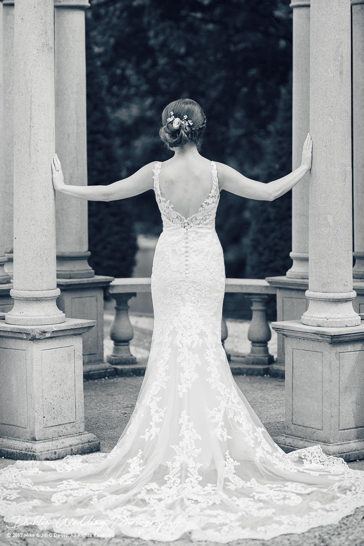 Wedding Photographer Killashee Hotel Kildare Bride Back of Dress