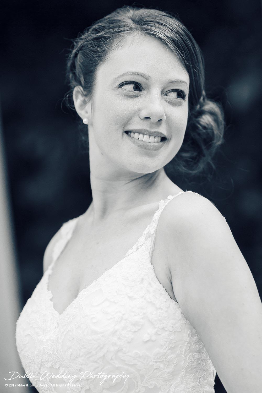 Wedding Photographer Killashee Hotel Kildare Bride Portrait Three Quarter Turn
