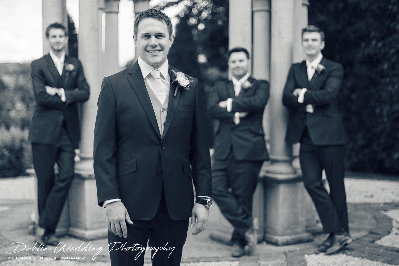 Wedding Photographers Kildare Killashee House Hotel Groom & Groomsmen