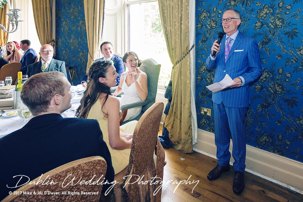Wedding Photographers Kildare Killashee House Hotel Father's Speech