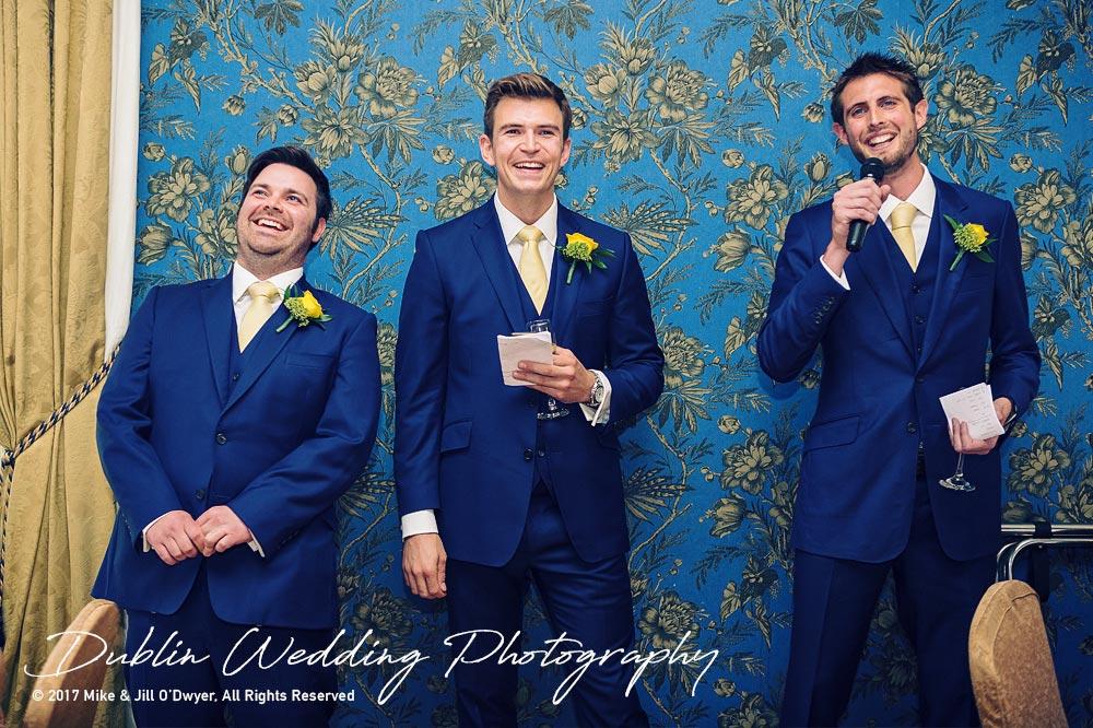 Wedding Photographers Kildare Killashee House Hotel Groomsmen's Speech
