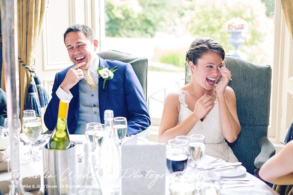 Wedding Photographer Killashee Hotel Speeches Bride's Laughter