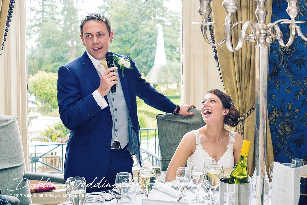 Killashee Hotel Wedding Photographers Bride's Laughter