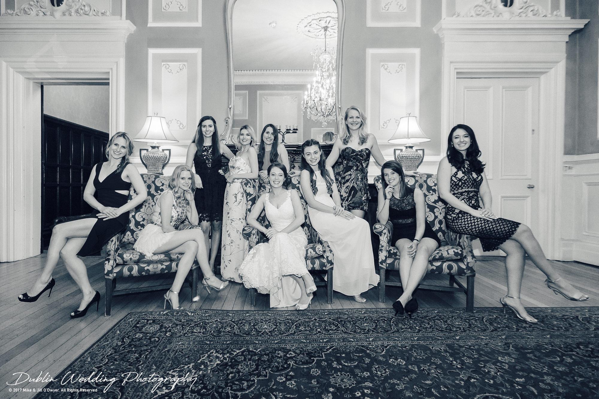 Wedding Photographers Kildare Kilashee Hotel House All the Girls