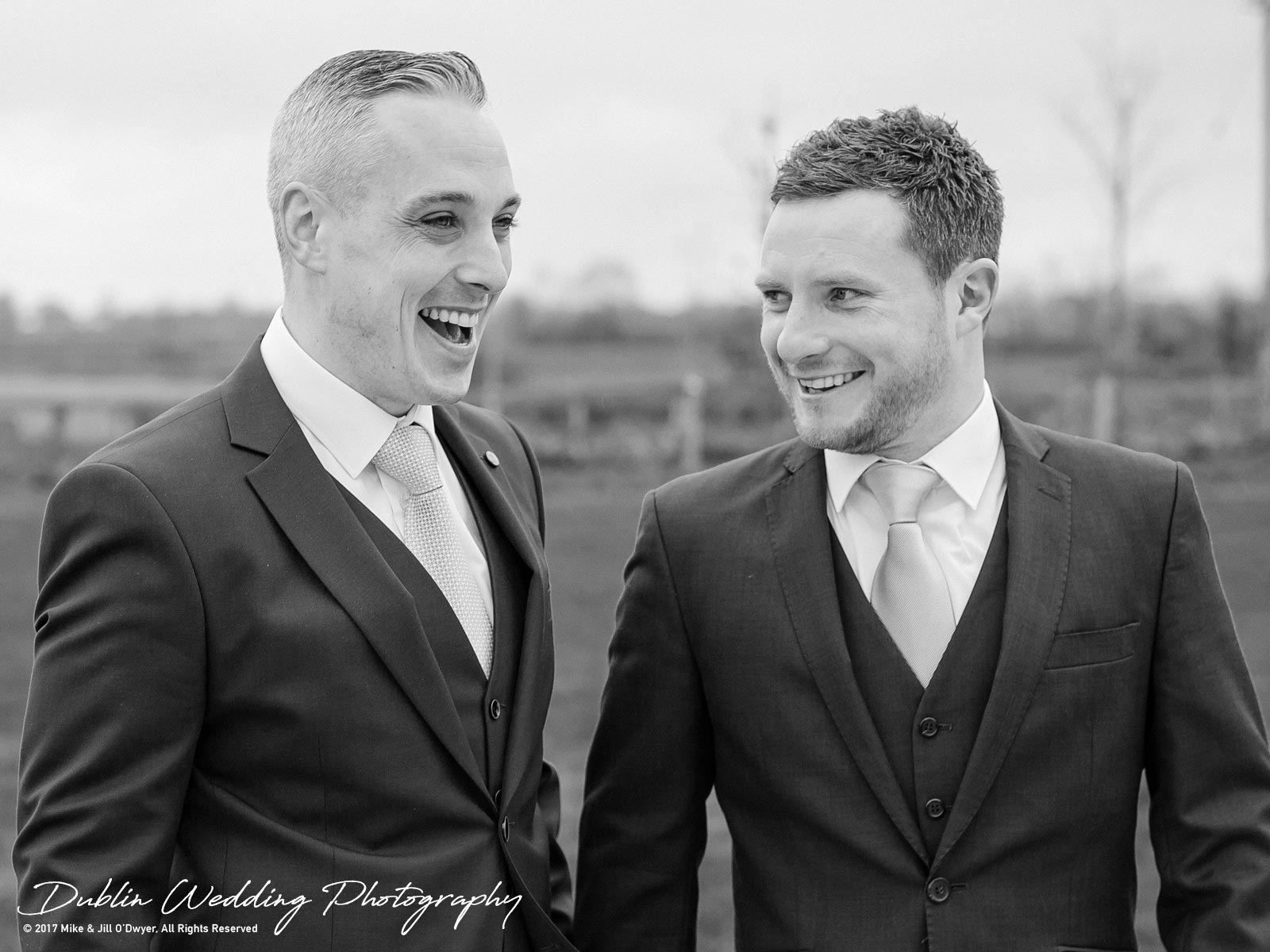 Castle Durrow Wedding Photographers Groom & Best Man