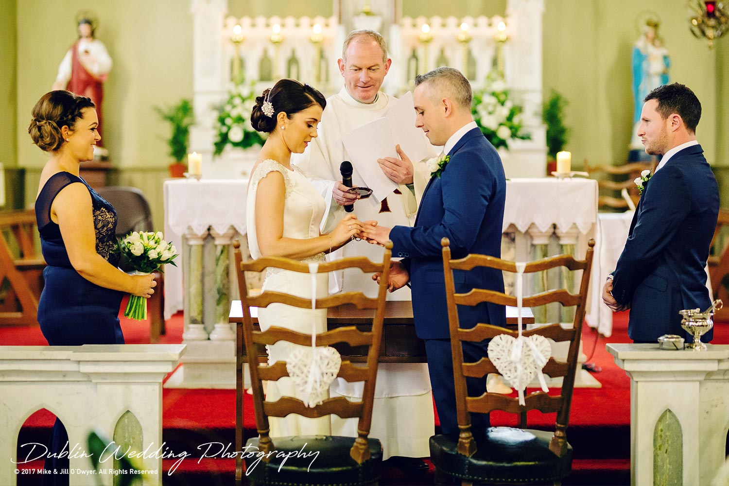 Castle Durrow Wedding Photographer County Wicklow Church getting Married