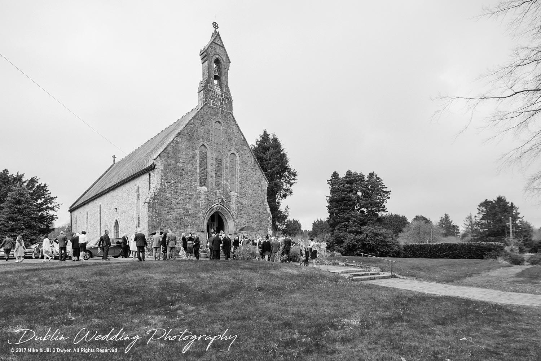 Castle Durrow Wedding Photographer County Wicklow Church Raining