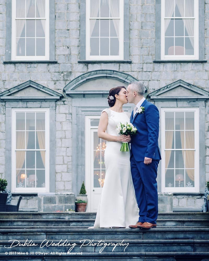 Castle Durrow Wedding Photographer Bride & Groom Kissing